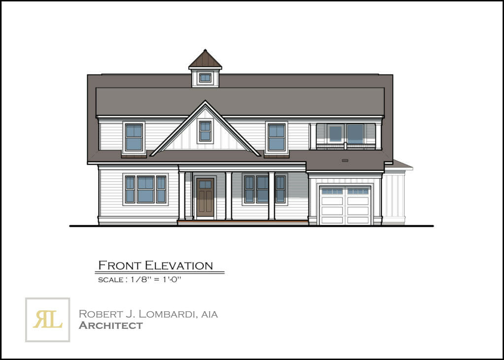 Oriole Drive Front Elevation Rendering